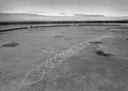 Kati Gausmann: Photography of the drawing 16°7'E 69°22'N 24.06.10 09.22-12.27 UTC+2