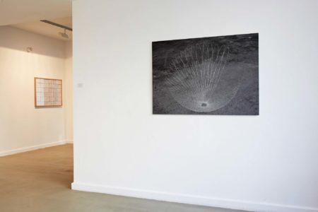 Kati Gausmann: Photography of the drawing 16°7'E 69°22'N 04./05.07.08 04.15-02.15 UTC+2