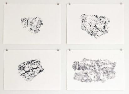 Kati Gausmann: Werke aus den Serien 'drift' und 'mountain print'